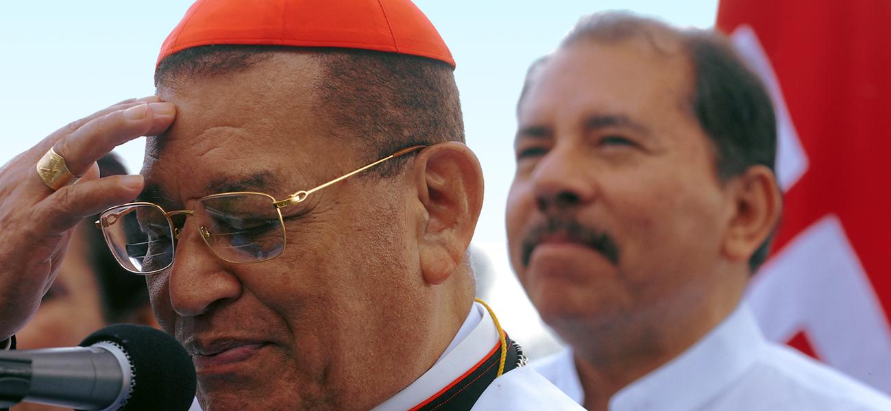 El fallecido Cardenal Miguel Obando paso de enemigo, en los ochentas, de Daniel Ortega a convertirse en su principal aliado.