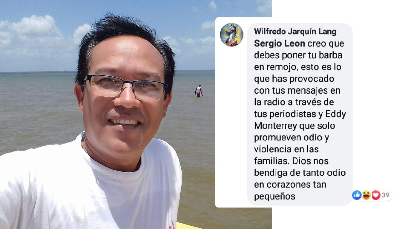 amenaza Sergio León Radio La Costeñísima