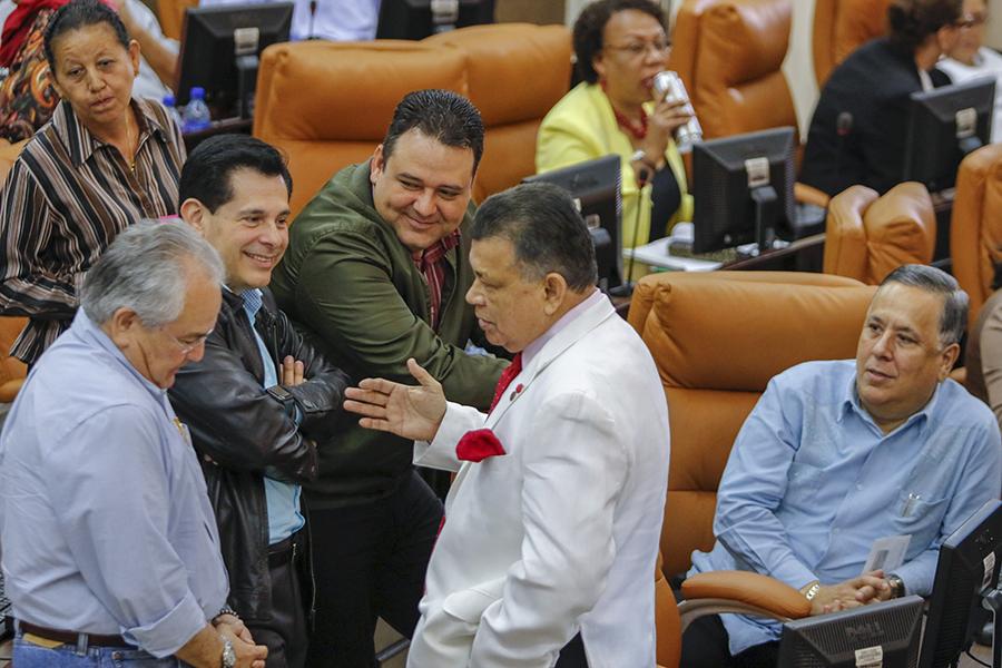 Asamblea con diputados en Nicaragua