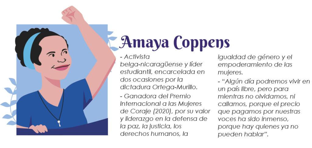 Amaya Coppens - mujeres luchadoras Nicaragua