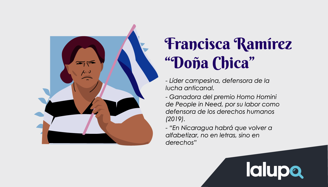Francisca Ramírez - mujeres luchadoras Nicaragua