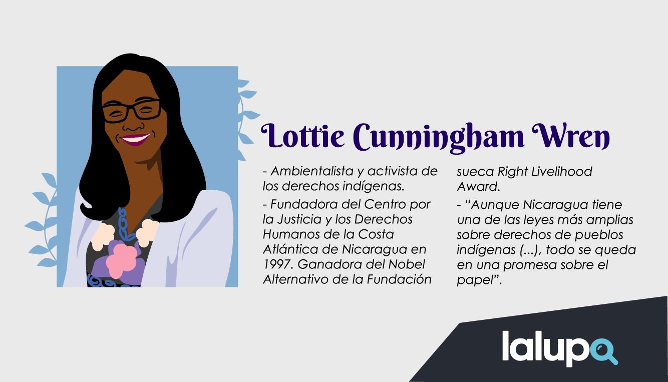 Lottie Cunningham - mujeres luchadoras Nicaragua
