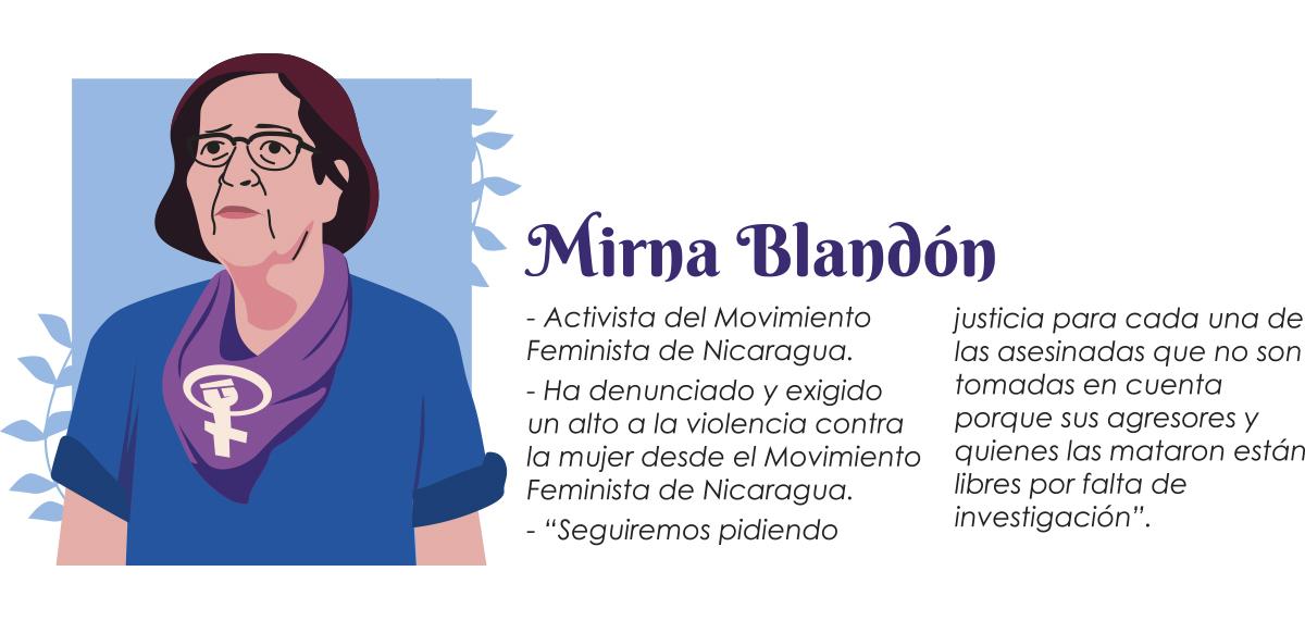 Mirna Blandón - mujeres luchadoras Nicaragua